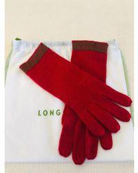 Longchamp Gants 60%laine , 30%soie , 10%cachemire rouge Taille unique