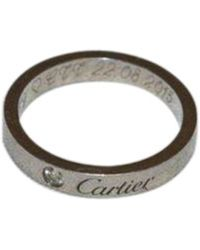 Cartier Bague platine argent - Métallisé