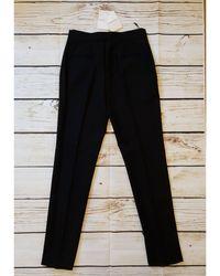 Givenchy Pantalon slim, cigarette laine noir