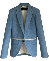 Barbara Bui Veste coton bleu