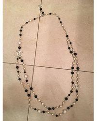 Chanel Sautoir perle (imitation) blanc