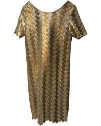 Sandro - Robe courte sequins doré - Lyst