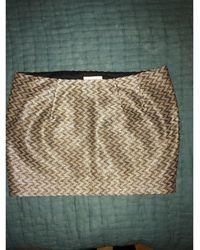 Roseanna Jupe courte coton doré - Métallisé