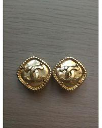 Chanel Boucles d'oreille métal doré - Métallisé