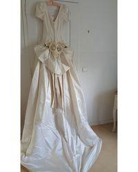 Dior Robe de mariée soie blanc