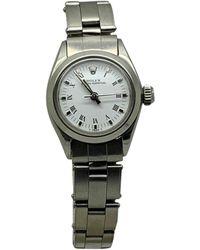 Rolex - Montre au poignet acier OYSTER PERPETUAL blanc - Lyst