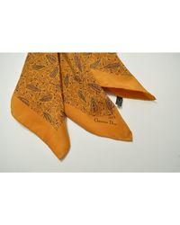 Dior - Foulard soie jaune - Lyst
