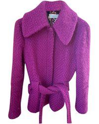 Emilio Pucci Manteau laine violet