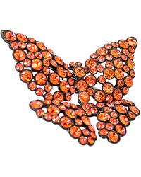 Sonia Rykiel Broche métal orange