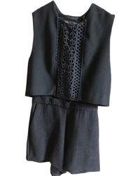 Maje - Combishort coton noir - Lyst