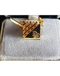 Dior Boutons de manchette chrome doré - Métallisé