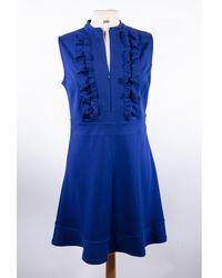 Sandro Robe courte polyester bleu