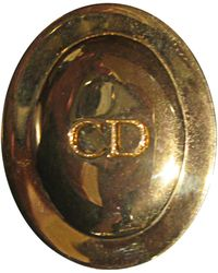 Dior - Broche métal doré - Lyst