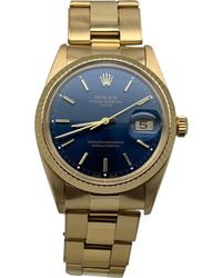 Rolex Montre au poignet or jaune bleu