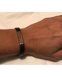 Marc Jacobs Bracelet cuir noir