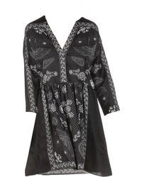 Sandro Robe courte polyester noir