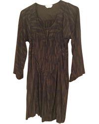 Étoile Isabel Marant Robe tunique soie marron