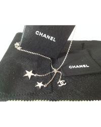 Chanel Collier argent argent - Métallisé