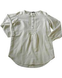 Maje Robe mi-longue coton blanc