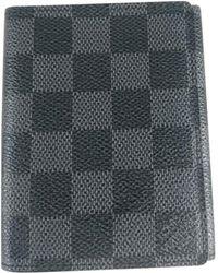 Louis Vuitton Portefeuille cuir gris
