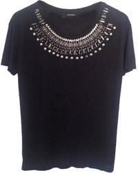 The Kooples Top, tee-shirt viscose noir