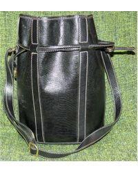Lancel Sac en bandoulière en cuir cuir noir