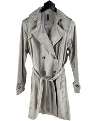 Moncler - Imperméable, trench polyester beige - Lyst