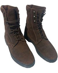 Missoni - Bottines & low boots plates daim marron - Lyst