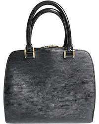 Louis Vuitton Sac à main en cuir cuir noir