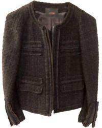 Maje - Blazer, veste tailleur laine mélangée noir - Lyst