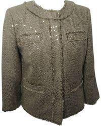 Michael Kors - Blazer, veste tailleur acrylique doré - Lyst