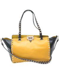 Valentino Sac en bandoulière en cuir cuir Rockstud jaune - Multicolore
