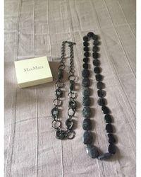 Max Mara Sautoir verre noir