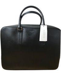 Sandro Porte document, serviette cuir noir