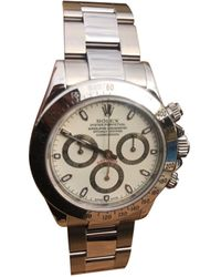 Rolex - Montre au poignet acier Daytona blanc - Lyst