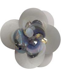 Lanvin Broche plastique argent - Métallisé