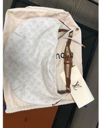 Louis Vuitton Sac à main en cuir cuir blanc