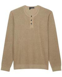 The Kooples Sweat coton beige - Neutre