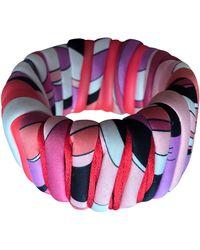 Emilio Pucci - Bracelet caoutchouc multicolore - Lyst
