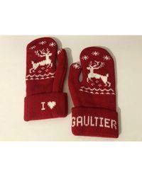 Jean Paul Gaultier Moufles laine autre Taille unique - Rouge