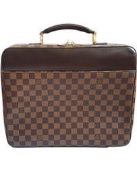 Louis Vuitton Mallette toile marron
