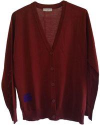 Sandro Gilet, cardigan laine rouge