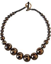 Lanvin - Collier métal argent - Lyst