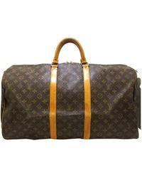 Louis Vuitton Sac XL en tissu toile marron