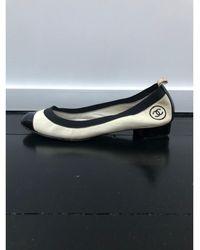 Chanel Ballerines cuir blanc