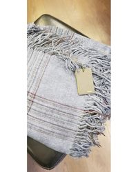 Fendi Foulard laine bleu