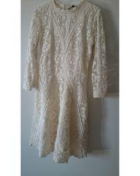 Maje Robe courte coton blanc