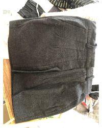 Étoile Isabel Marant - Jupe courte laine gris - Lyst