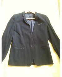 The Kooples - Blazer, veste tailleur viscose bleu - Lyst
