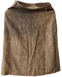 Burberry Tailleur jupe laine beige - Neutre